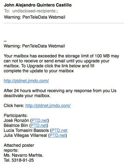 Phishing Email Examples | EZComputer Solutions
