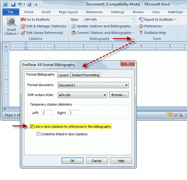 Endnote in text referencing and linking to referen... - Clarivate ...