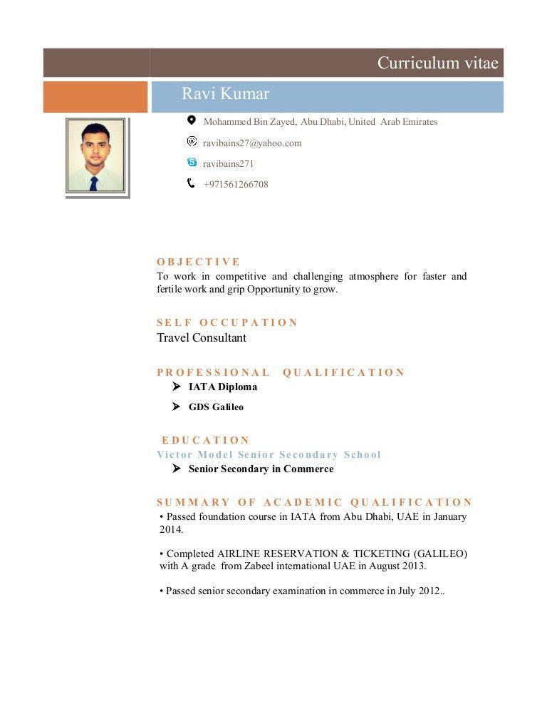 Travel Consultant-CV