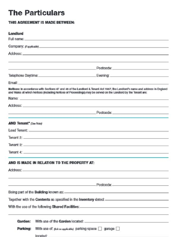 Go Online for Free Tenancy Agreement Form - Free Job Application Form
