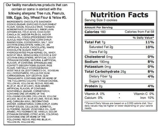 nutrition label for oreos - Nutrition Daily