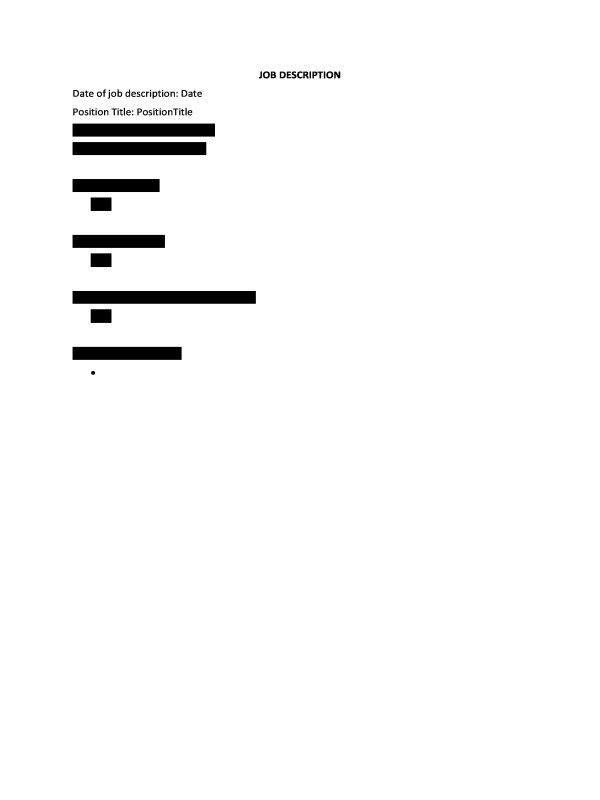HR Advance | Job Description Form