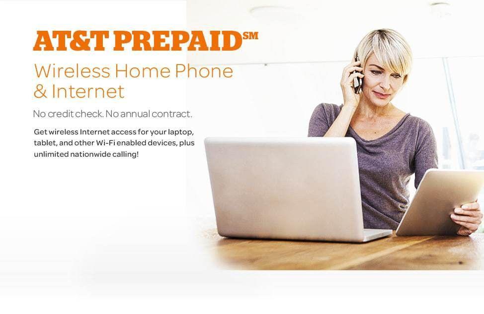 Prepaid Wireless Home Phone & Internet – AT&T