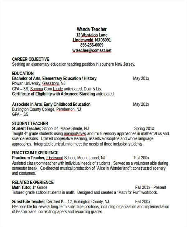 25+ Teacher Resumes in Word | Free & Premium Templates