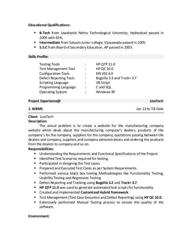 Download Qa Tester Resume | haadyaooverbayresort.com