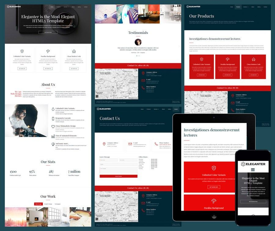 12 Free Responsive Business Website Templates
