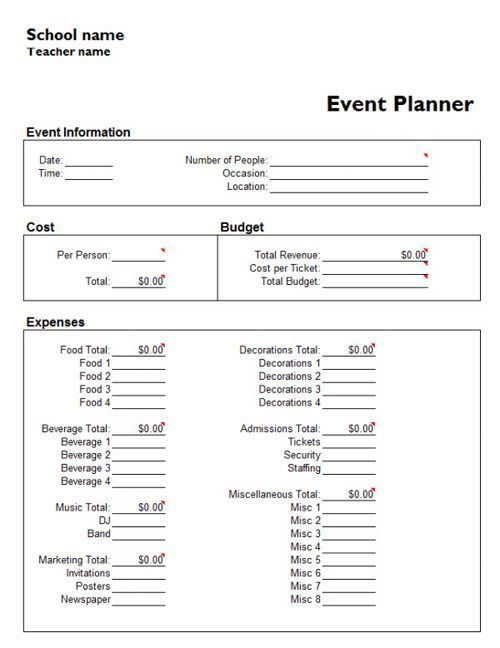 Event Plan Template. Event Planner Contract Template Free Event ...