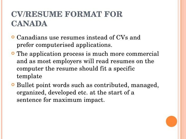Format Canadian Resume Simple Effective US Canada Resume Format ...