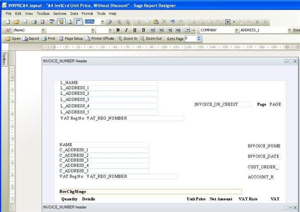 How to customise an invoice template in Sage Instant Accounts