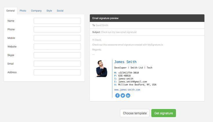 Best 25+ Email signature generator ideas on Pinterest | Signature ...