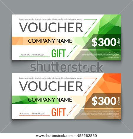 Gift Voucher Card Template Design Special Stock Vector 310057538 ...