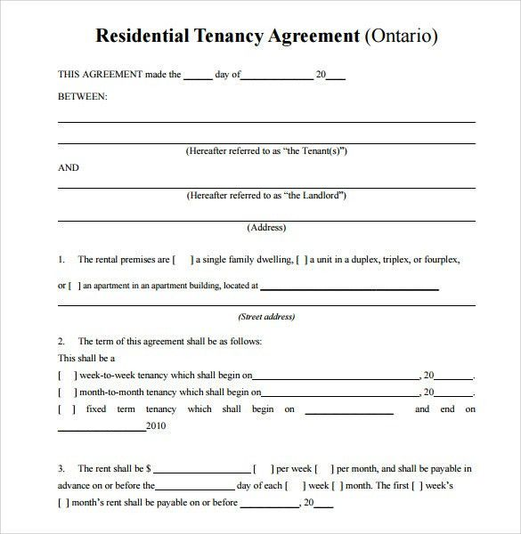 Sample Residential Rental Agreement  12+ Examples U0026 Format