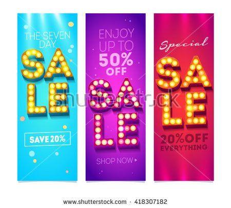 Sale Flyers Set Design Creative Sale Stock Vector 418307182 ...