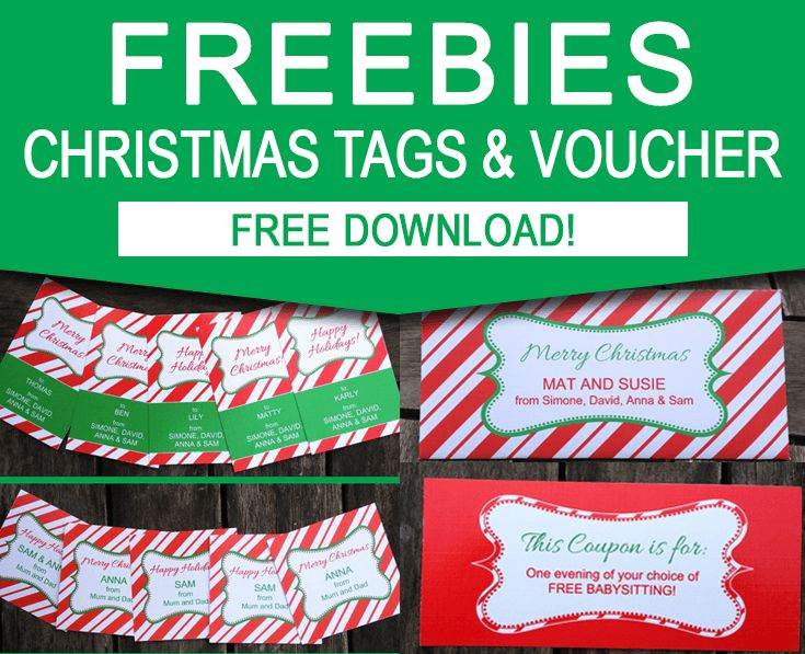 FREE Christmas Gift Tag Printable Set