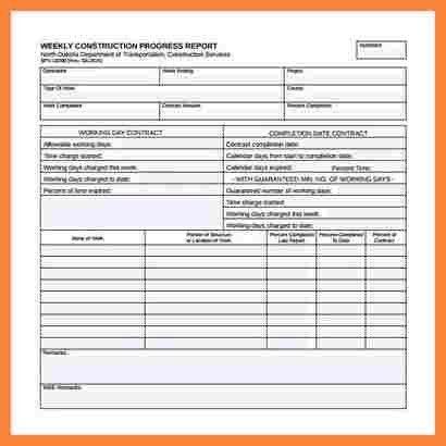 8+ construction report format | Bussines Proposal 2017