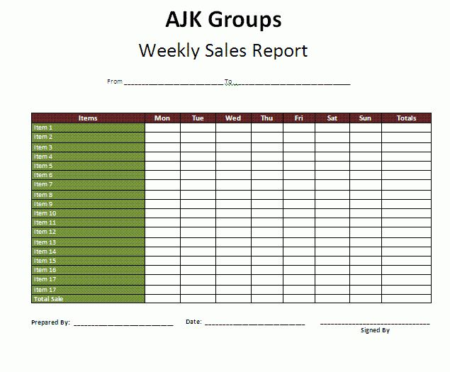 Weekly Report Template | Download It Free