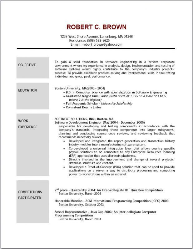 cover letter example of resume objective good example of objective ...