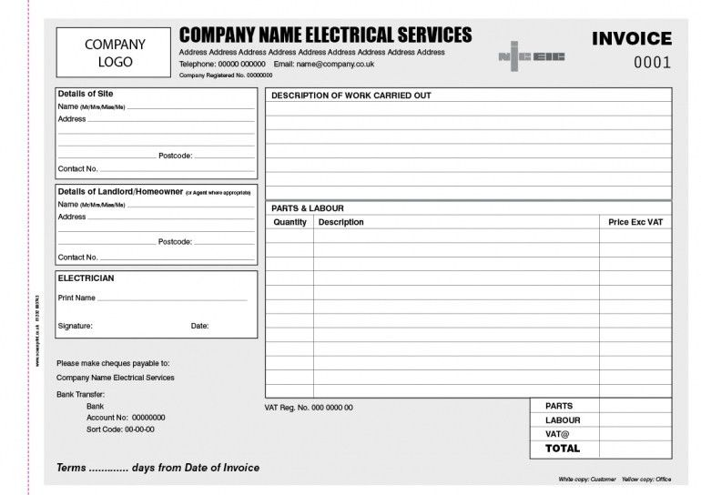 Download Electrical Invoice Template Excel | rabitah.net