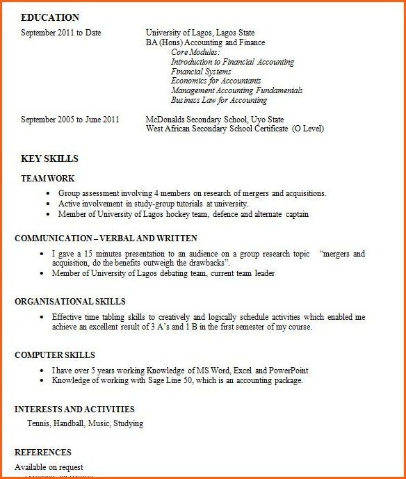 Write Resume First Time With No Job Experience Httpwww First Cv No ...