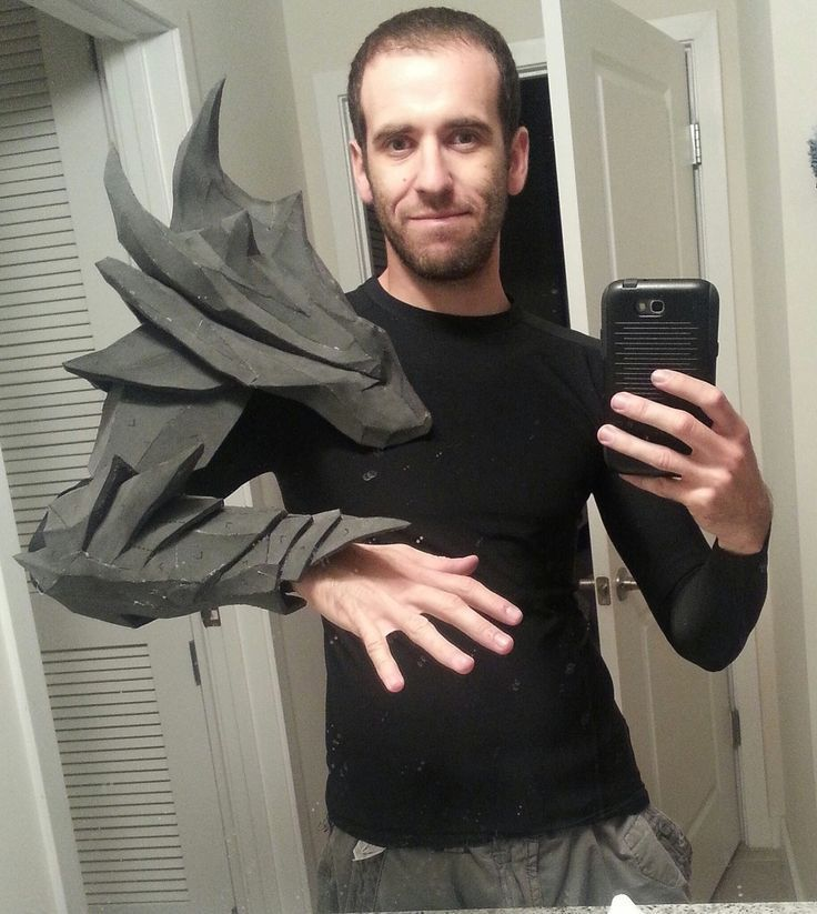 The armor is made completely out of EVA foam and hot glue ...