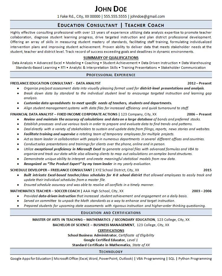It Consultant Resume Management Consulting Resume Example For .