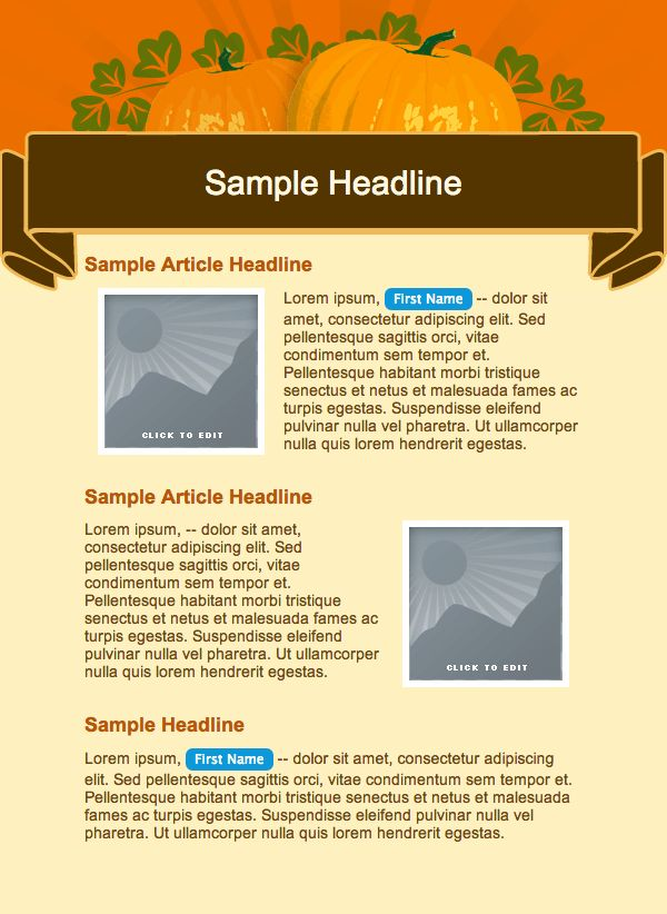 Free Email Templates to Celebrate Thanksgiving - Email Marketing Tips