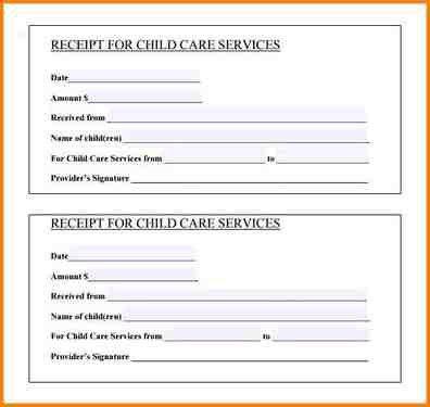 9+ receipt for services | writable calendar