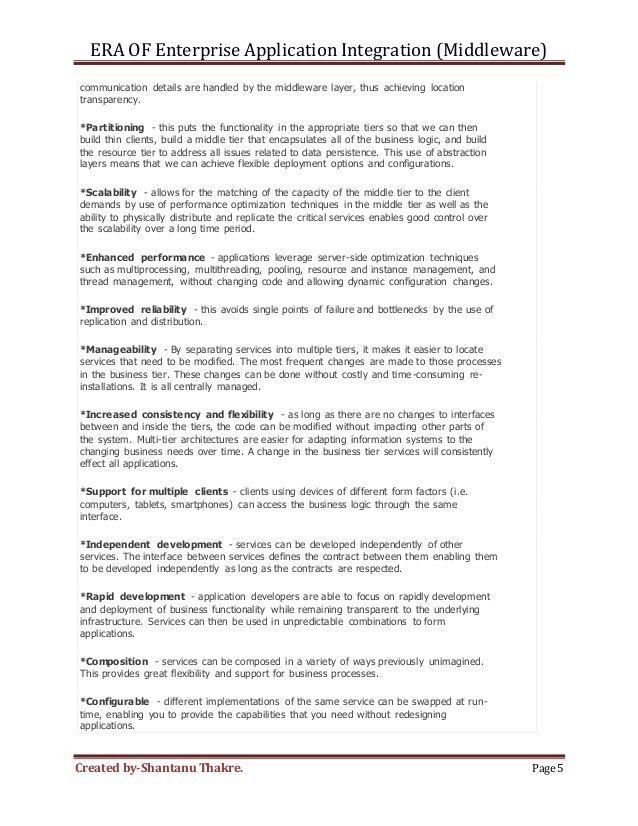Enterprise Application integration (middleware) concepts