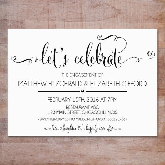 Best 10+ Engagement invitation wording ideas on Pinterest ...