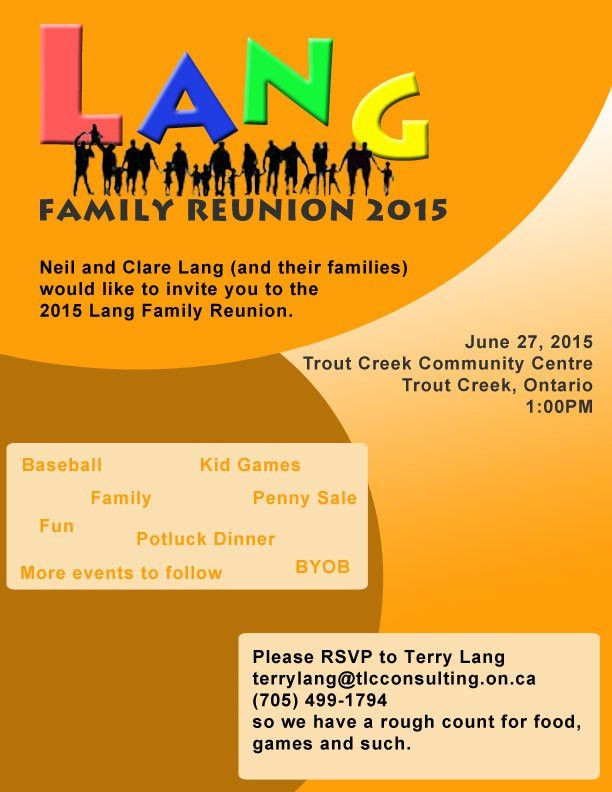 Reunion 2015 – The Lang Family