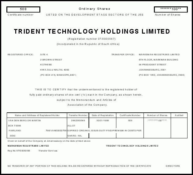 Understanding Financial Markets & Instruments - Share certificate