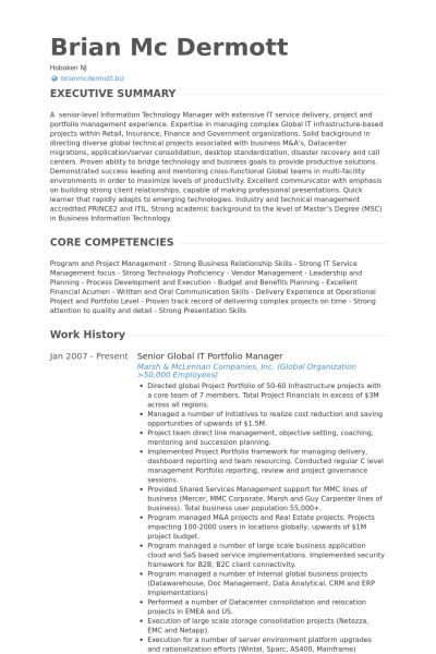 sample technology manager resume manager resume example