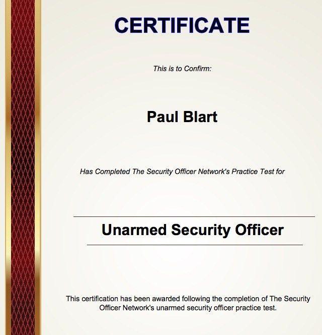 Security Guard Practice Exam