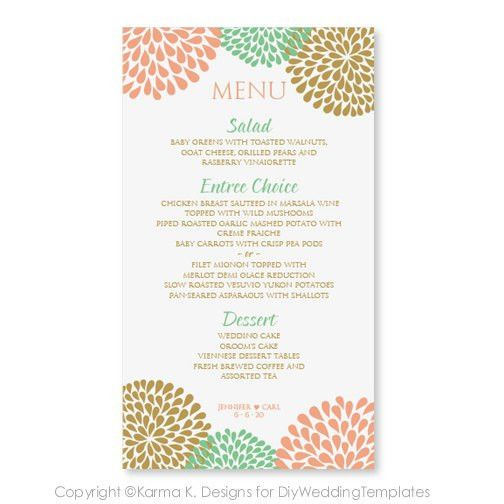 Wedding menu templates!! FREE!! | love...Happily EVERafter ...