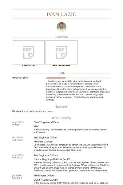 Download Chief Engineer Sample Resume | haadyaooverbayresort.com