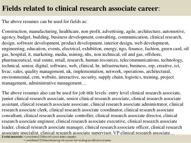 Amazing Market Research Associate Cover Letter