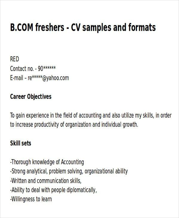 6+ Example Resume Objective - Free Sample, Example, Format Download