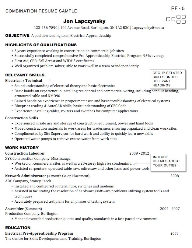 How to write Electrician Resume & Sample - RESUMEDOC