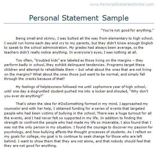 personal statement essay examples for college personal statement  106 best personal statement images personal