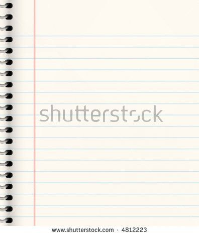 Yellow Sheet Notepad Office Equipment School Stock Vector ...