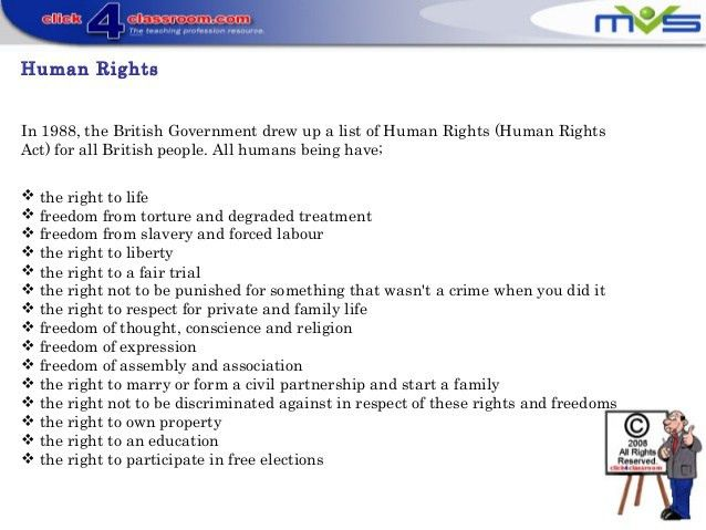What are human rights y8