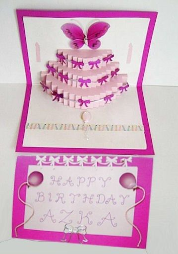 Birthday Cake Pop Up Insert - CUP691889_596 | Craftsuprint
