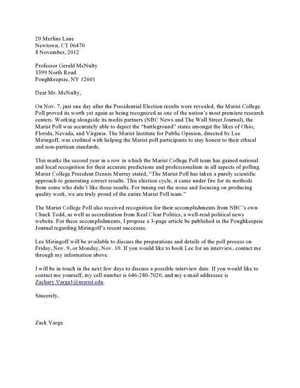 Press Release/cover Letter Example U2013 Zack Vargau0027s Public Relations .