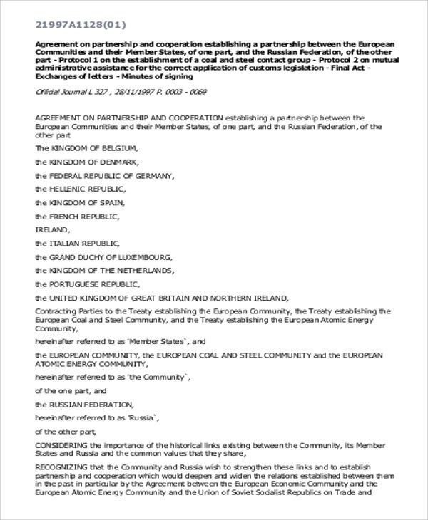 11+ Sample Business Agreement - Free Sample, Example, Format Download