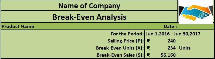 Download Break-Even Analysis Excel Template - ExcelDataPro
