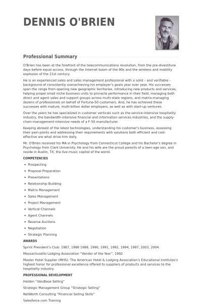 Strategic Account Manager Resume samples - VisualCV resume samples ...