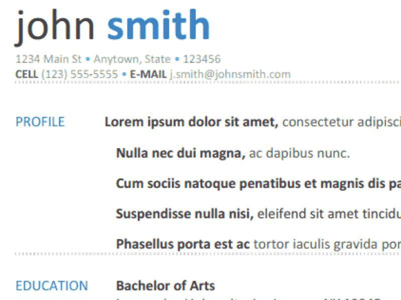 Google Resume Template - CV Resume Ideas