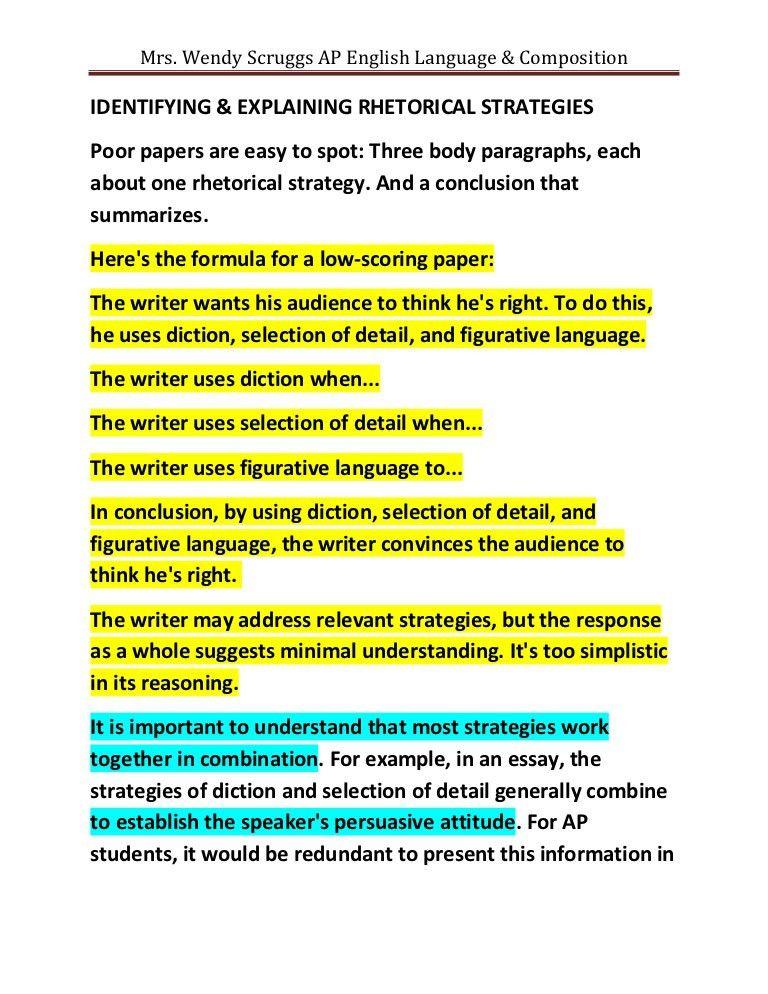 Weak rhetorical analysis essays