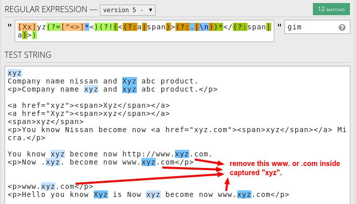 regex - Python Regexp do not capture www. or .com inside xyz word ...