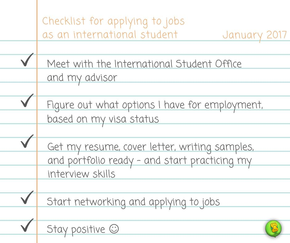 How to Get a Job as an International Student – campusSIMs